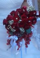 Bouquet sposa matrimonio fiori uva