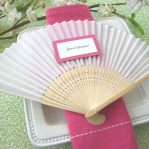 ventaglio elegante seta bambù wedding evento