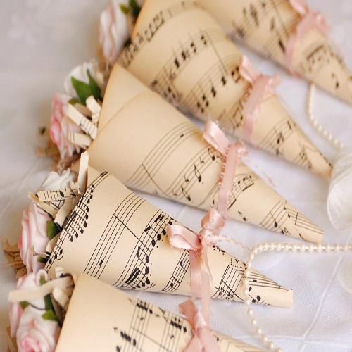 cono musica riso chiesa wedding personalizzato